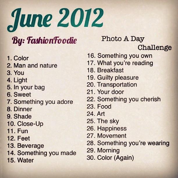 June Instagram Challenge 2014