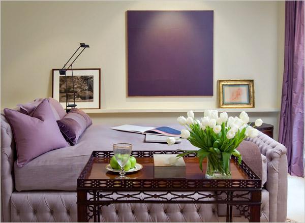 Decoración Baño Lila:Utilizar el color morado en la decoración del hogar es una buena