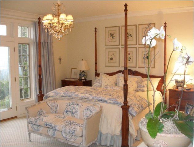 Blue Toile Bedroom Ideas: French Country Bedroom Design Ideas