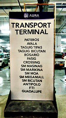 UV Express Terminal inside SM Aura Premier