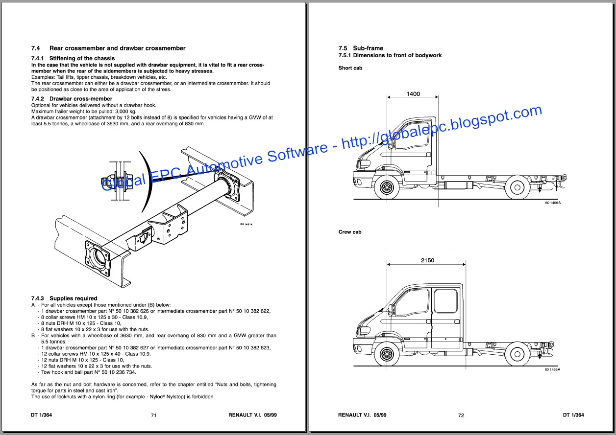 Global Epc Automotive Software  Renault Master Mascott Movano Workshop Service Manuals And