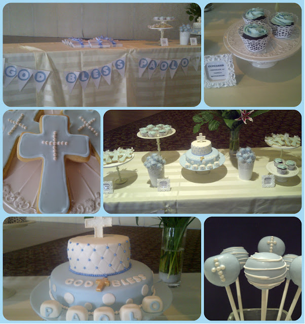 Cake Table Decoration For Christening : Christening Cake Table Decoration Photograph Cake: Fondant