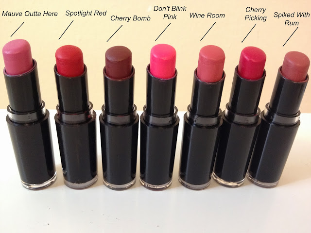 A picture of wet and wild mega last lip colors