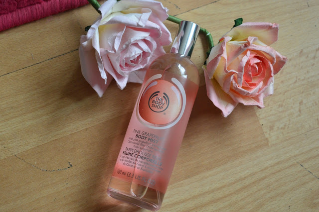pink grapefruit body mist the body shop