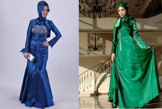 gaun pesta muslimah cantik unik