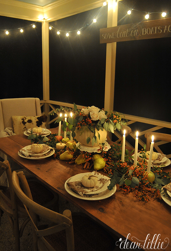 & Dear Lillie: Our Candlelit Autumn Table Setting