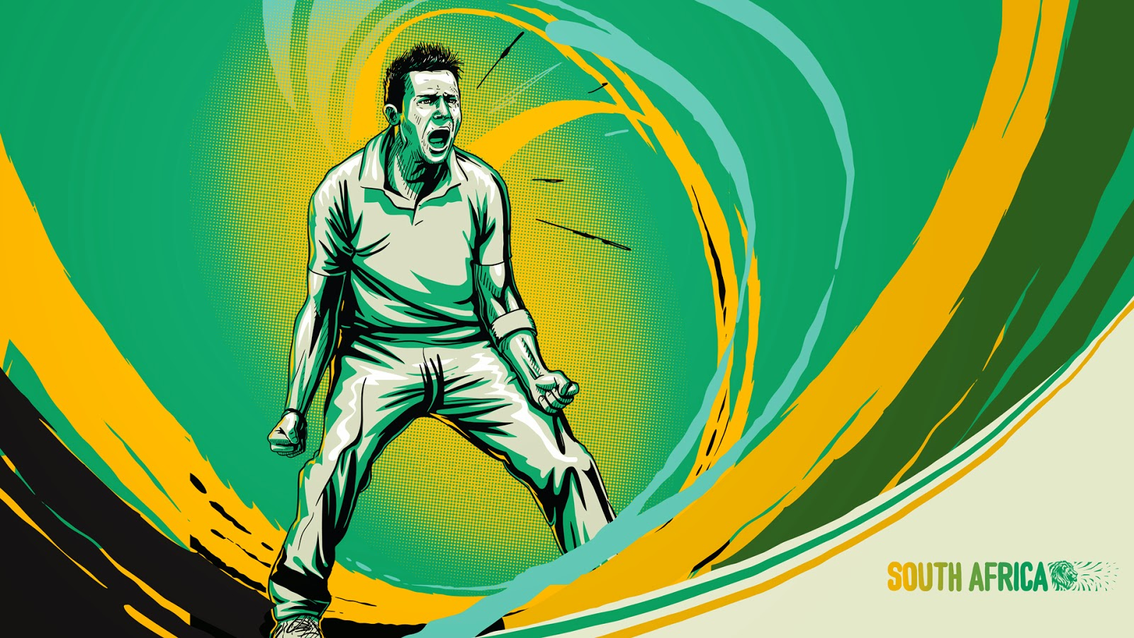 Graeme Smith South African cricketer illustration sketch