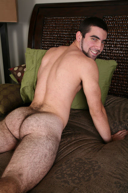 Hairy Hunk Tucker showing his hairy Ass