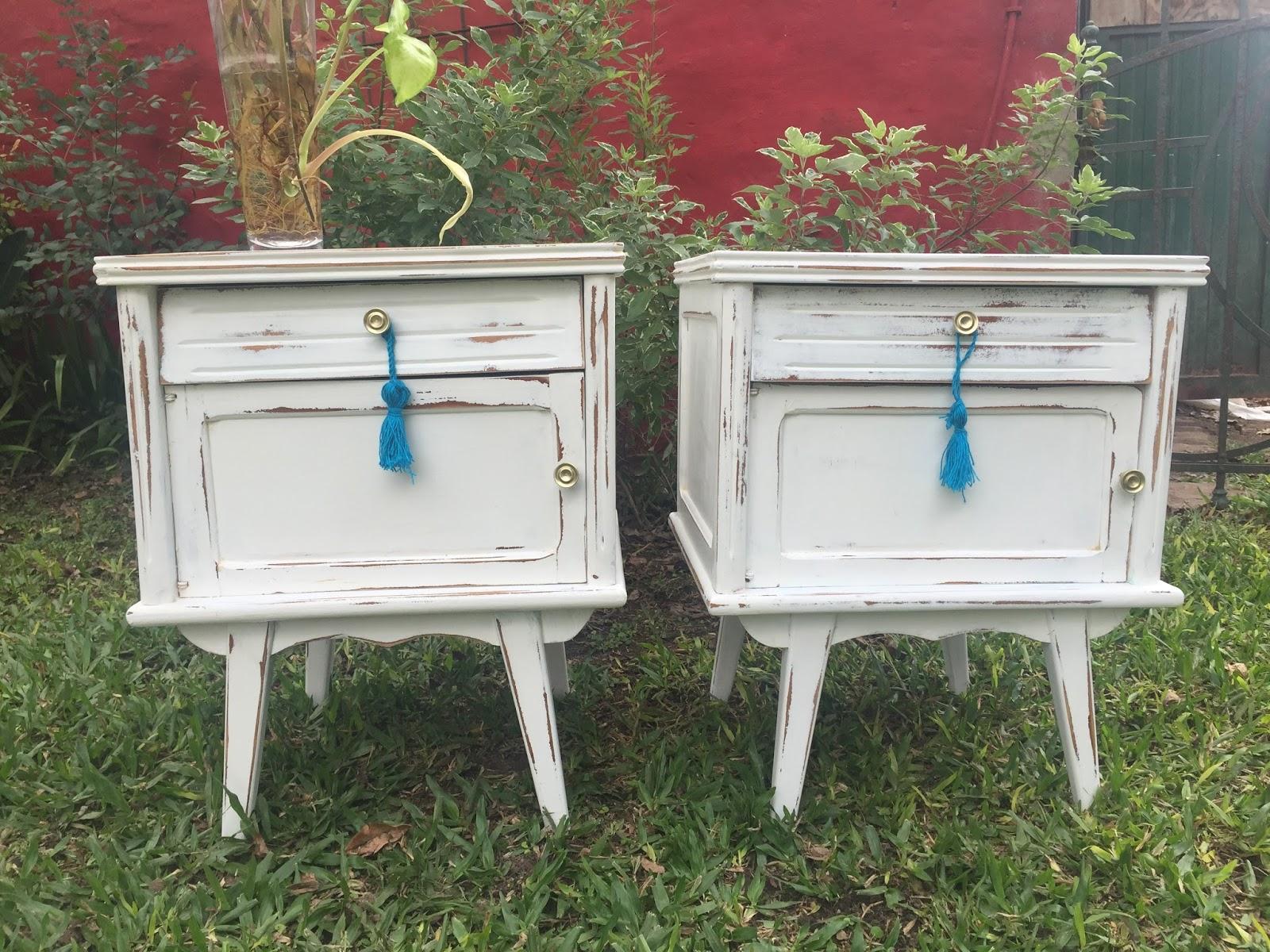 Vintouch muebles reciclados pintados a mano mesas - Mesas con caballetes ...