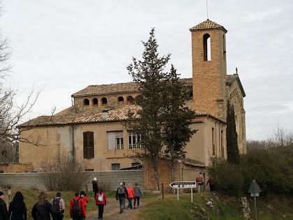 La rectoria i l'església de Sant Jaume del Pont de Cabrianes