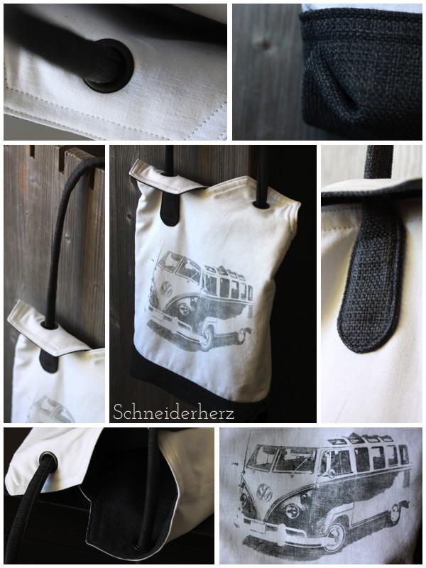 Ying-Yang-Bag VW-Bus DIY Tasche