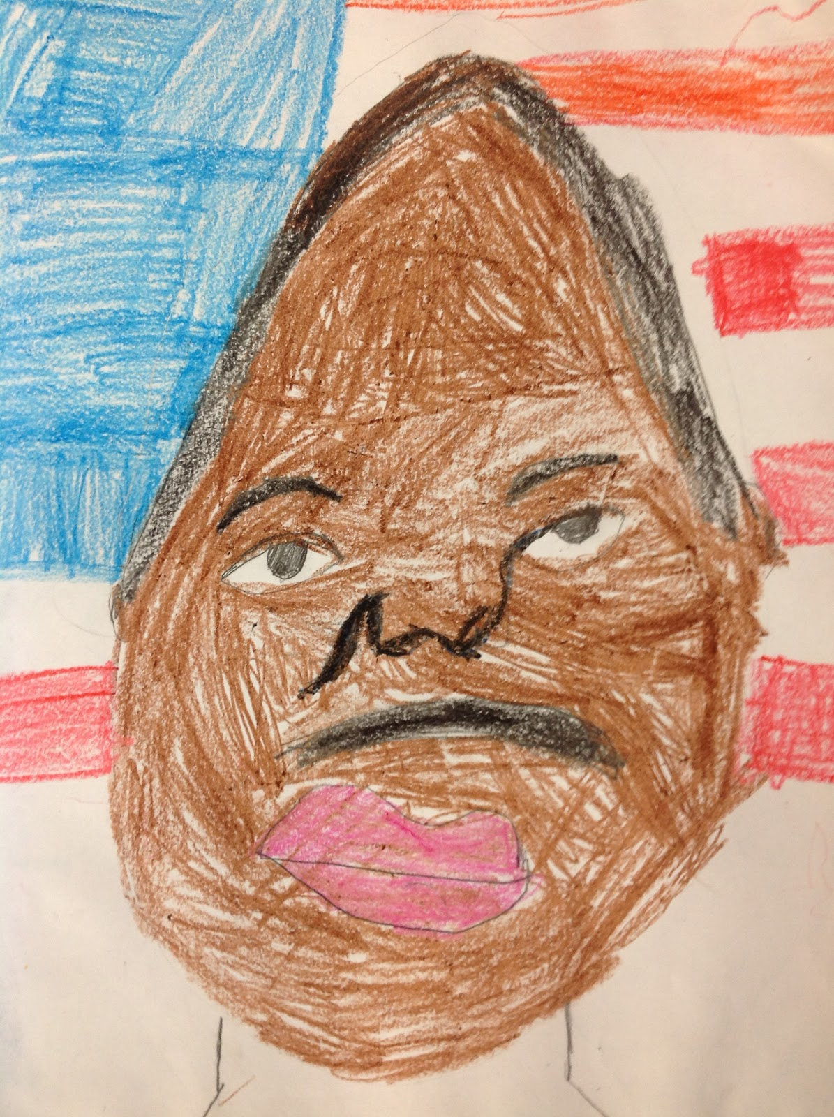Howywood kindergarten happy mlk day a guided drawing for Cool watercolour