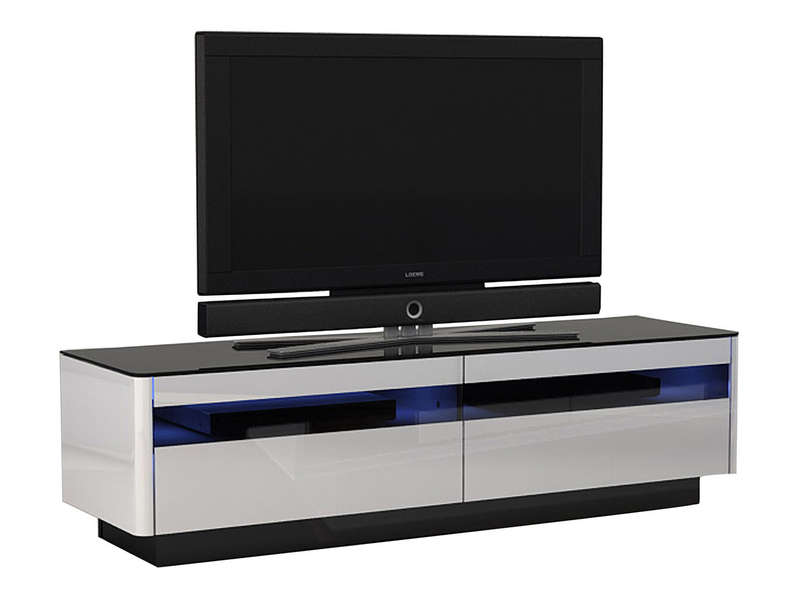 Meuble TV conforama noir et blanc  Meuble TV -> Meuble Tv DAngle Blanc Conforama