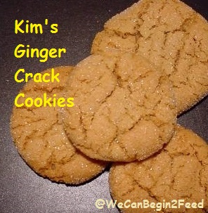 Kim's Ginger Crack Cookies
