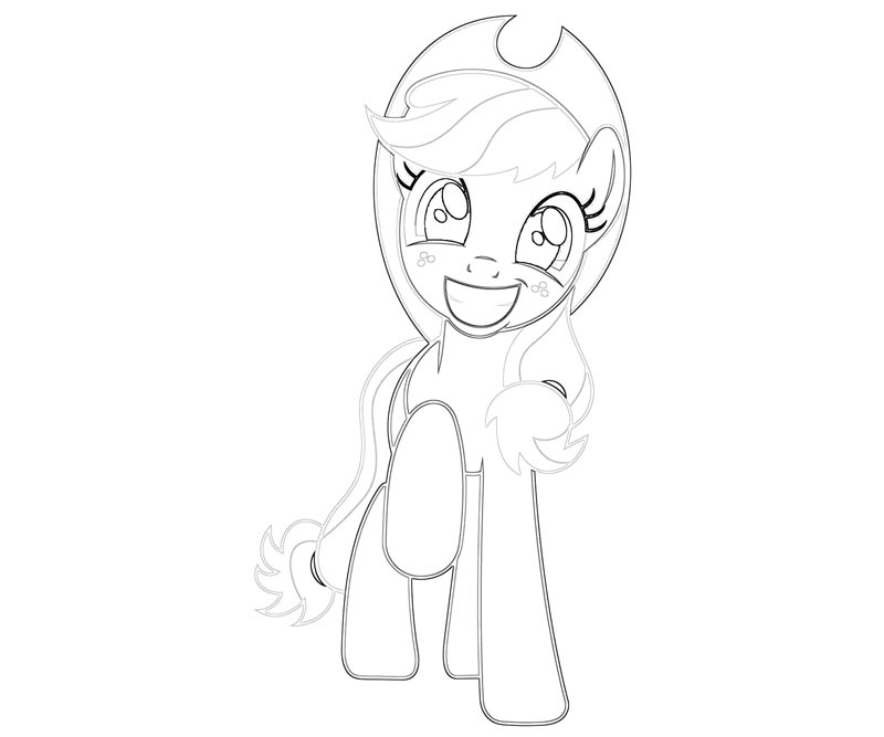 #43 My Little Pony Applejack Coloring Page