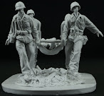 Review and construction - AC Models – 75mm USMC stretcher team in the Pacific, Peleliu.