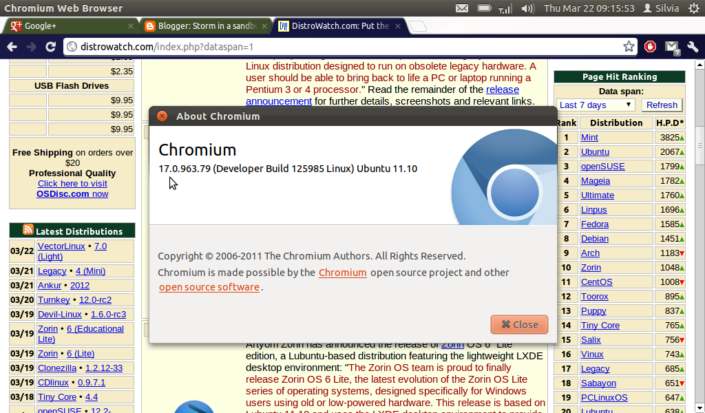 Linux browsers chromium and firefox storm in a sandbox Linux browser