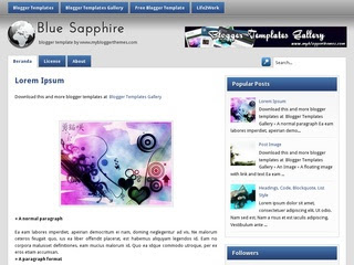 BlueSapphire Blogger templates