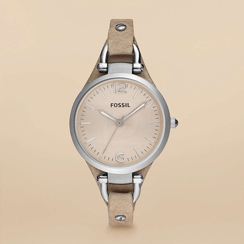 Woman Fossil Leather Watches