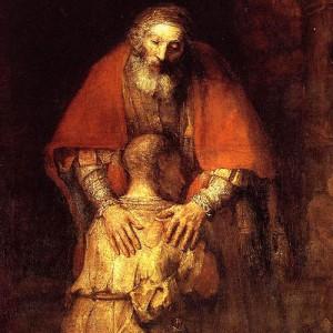 Rembrandt, El hijo prodigo (Detalle)