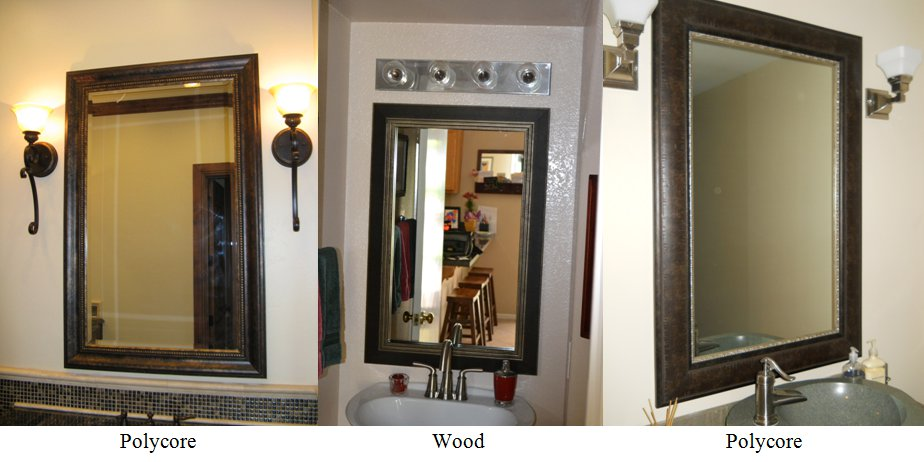 Reflected Design: Wood vs. Polycore Mirror Frame Molding