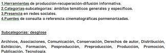Categoría Cine: subcategorías