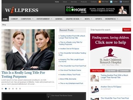 WillPress - Free Newspaper WordPress Theme