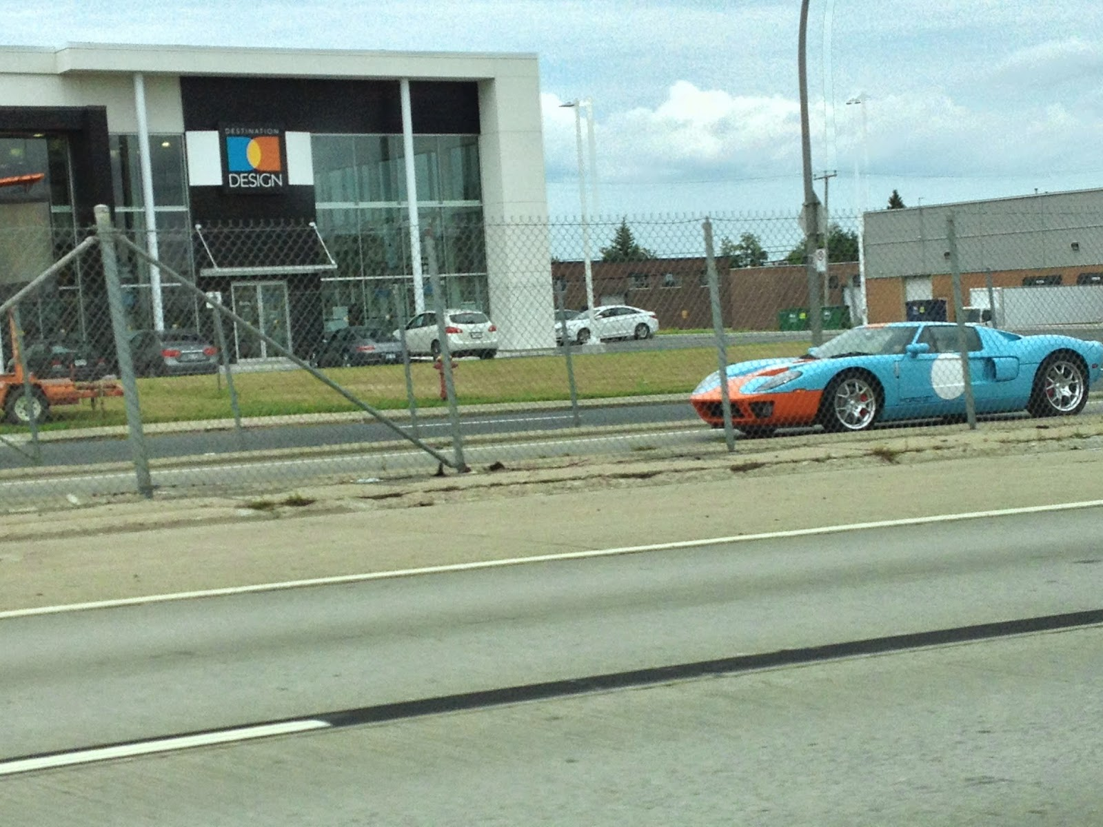 Side of Gulf Racing Ford GT40