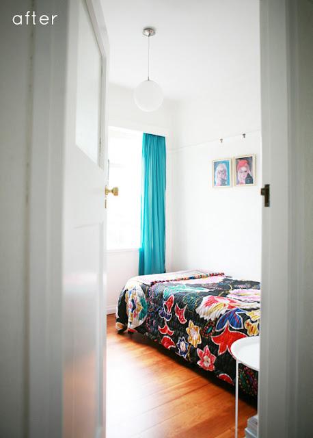 Phòng ngủ trước và sau khi thay đổi