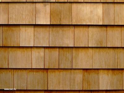 Siding de madera tipo teja plana