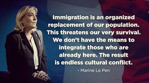 France's Marine Le Pen...