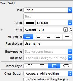 xcode button border