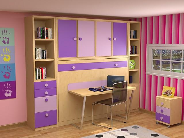 dormitorio juvenil con cama alta cama con cajonesmesa de estudio y modulos de cajones