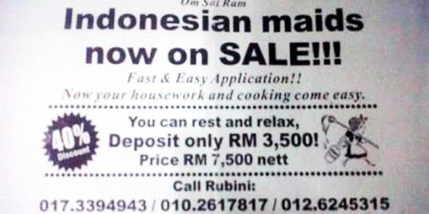 Iklan Obral TKI di Malaysia