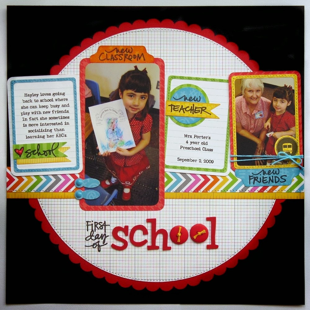 Abc scrapbook ideas list - A Technique Tuesday School Themed Layout
