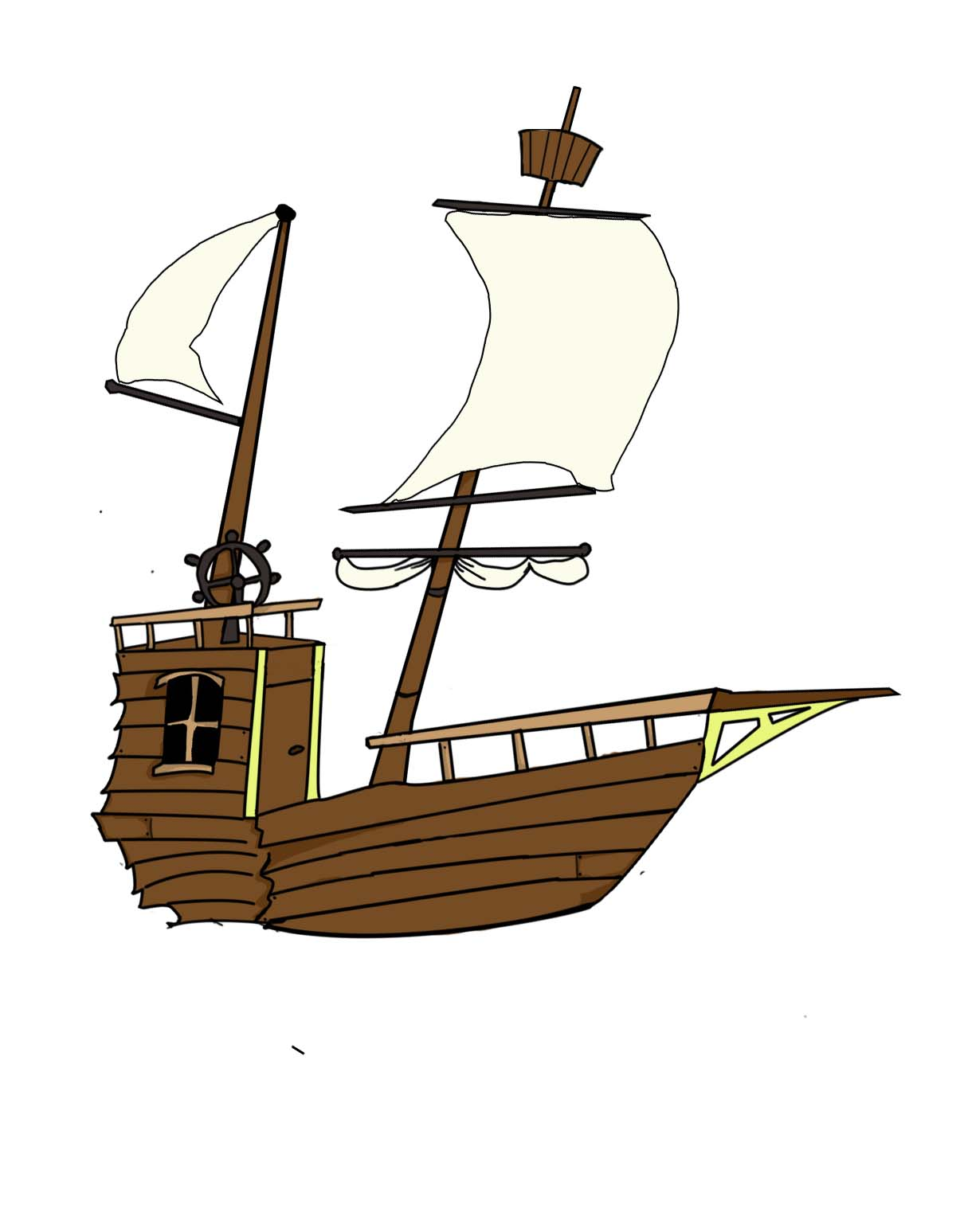 Animation Student: Pirate ship design