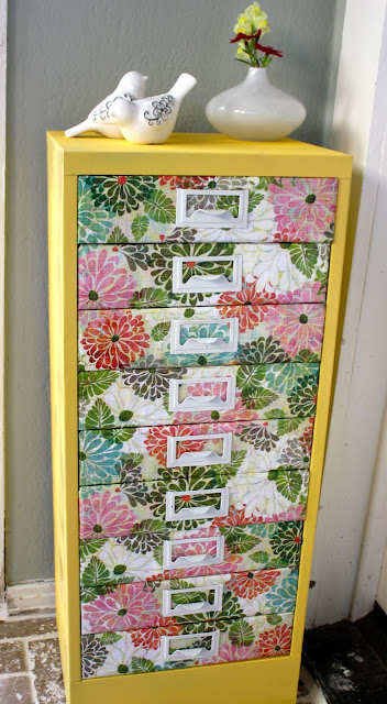 mod podge file cabinet