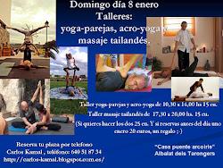 DOMINGO DÍA 8 ENERO TALLERES: YOGA-PAREJAS, ACRO-YOGA Y MASAJE TAILANDÉS.