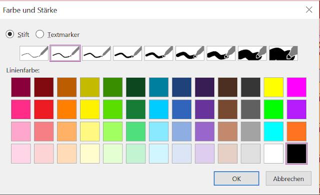 Alle möglichen Farbenkombinationen sind möglich