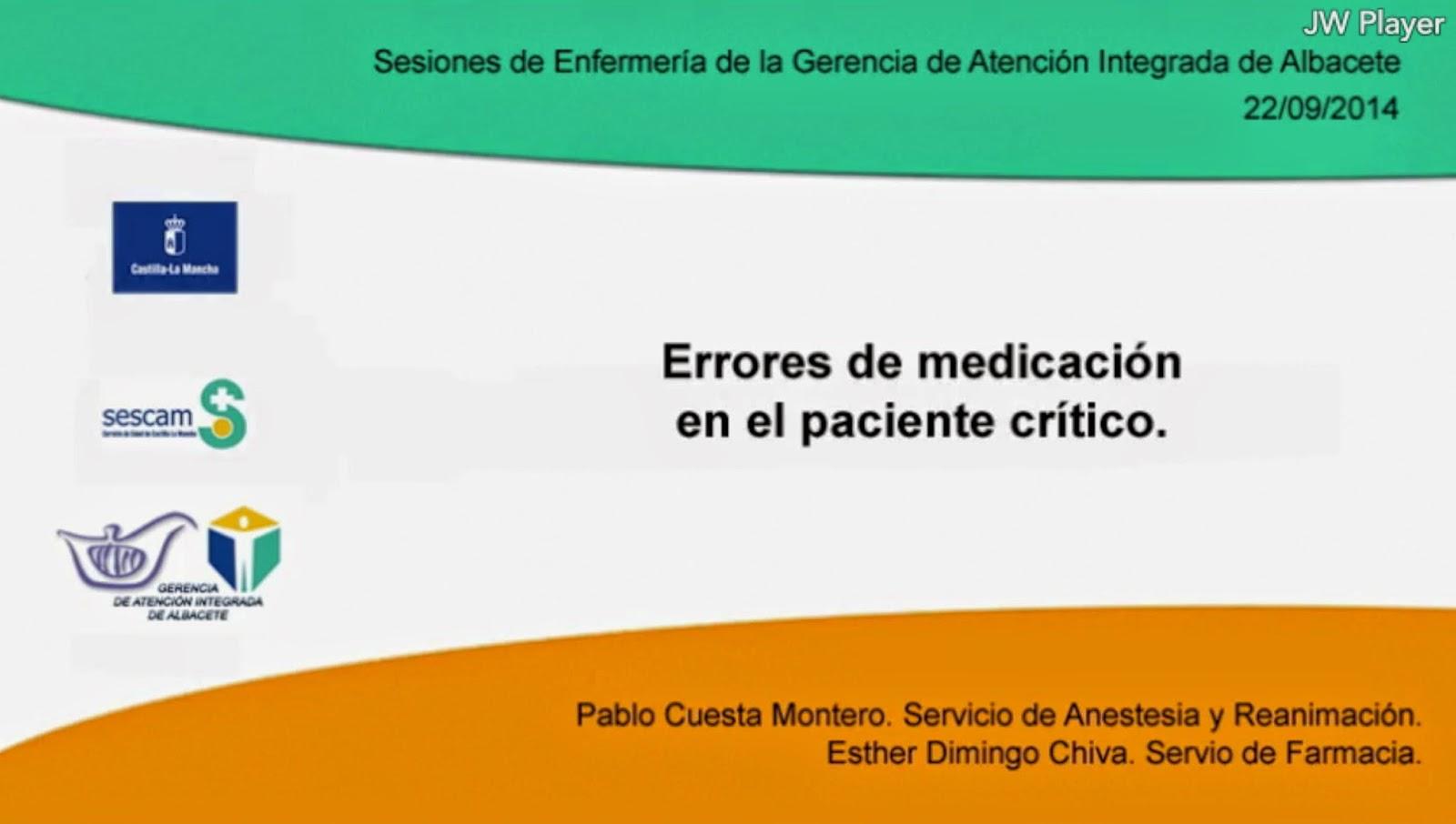 Errores de Medicación en el paciente crítico