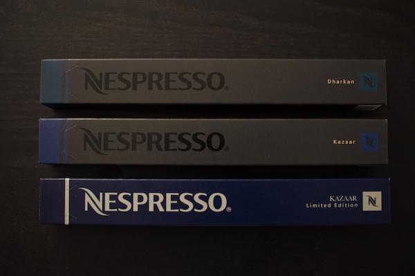 my socalled food blog Nespresso Dharkan vs Kazaar -> Nespresso Kazaar