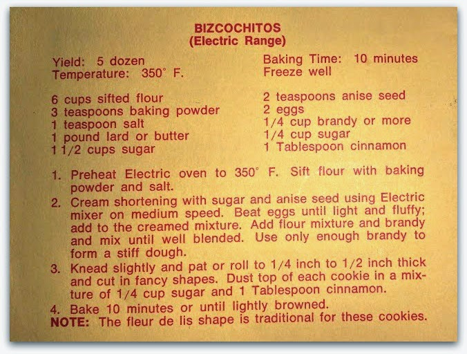 red or green?: Biscochitos (New Mexico State Cookie)
