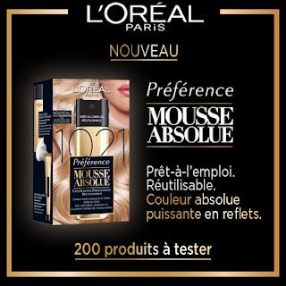 200 Mousses Absolue L'Oréal Paris à gagner