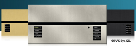 The Lutron Grafik QS control panel - available in different finishes