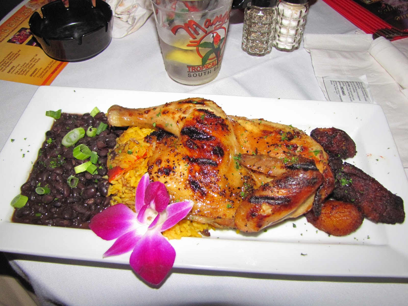 Roasted Margarita Chicken from Mango's Tropical Cafe in Miami, Florida