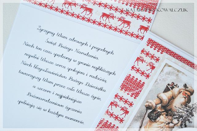 Tradycyjne kartki świąteczne scrapbooking