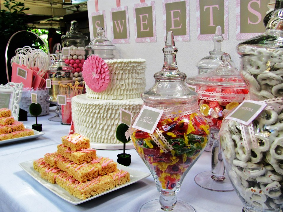 SWEET TREATS CAROUSEL: Shabby Chic Baby Shower Candy Table
