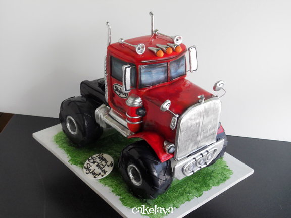 cakelava Monster Truck Birthday Cake