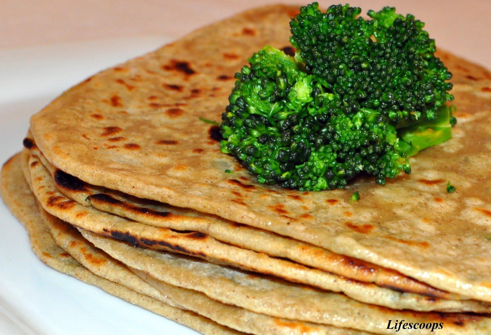 ... Broccoli Aloo Paratha (Broccoli and Potato stuffed Indian Flatbread