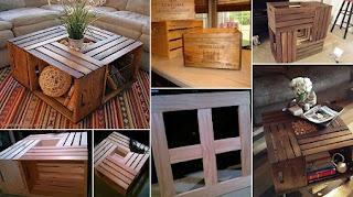 Ideas para Reciclar Cajas de Madera, Mesa Reciclada con Cajas de Vino